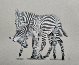 Playful stripes, A4. Te koop: €85,-